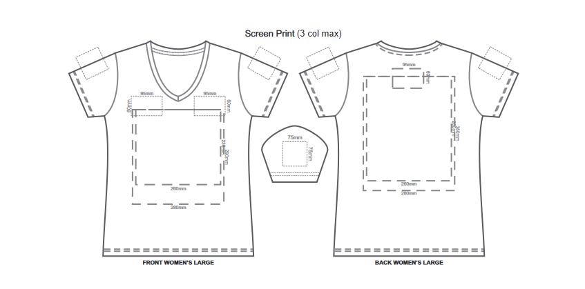 SOLS Imperial Womens V Neck T Shirt branding template 5 1