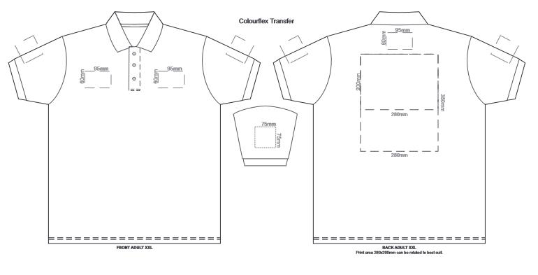 SOLS Prime Mens Polo Shirt branding template 2