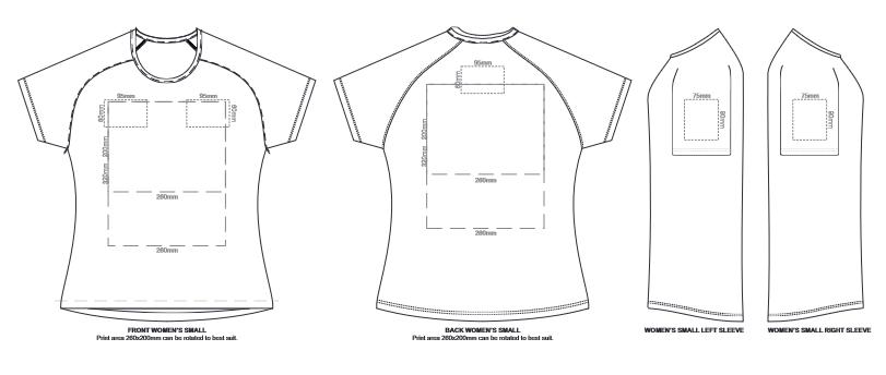 SOLS Sporty Womens T Shirt branding template 1