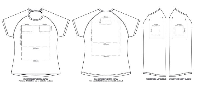 SOLS Sporty Womens T Shirt branding template 2