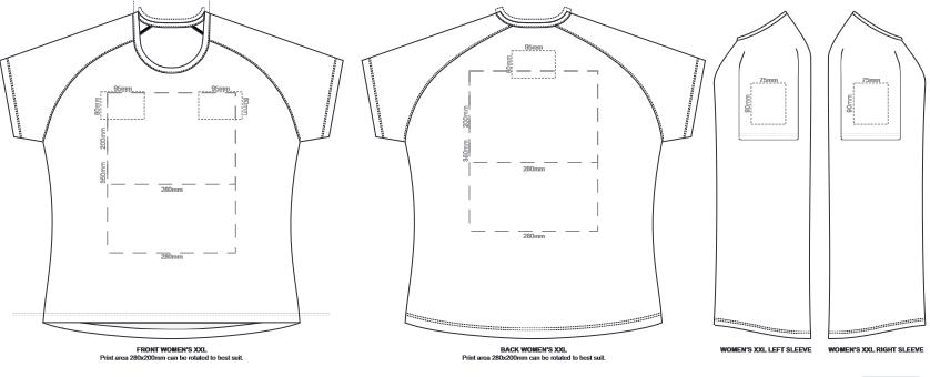 SOLS Sporty Womens T Shirt branding template 3