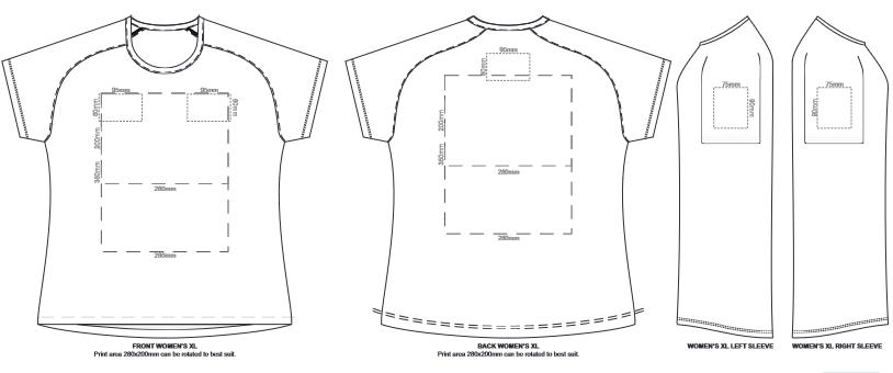 SOLS Sporty Womens T Shirt branding template 4