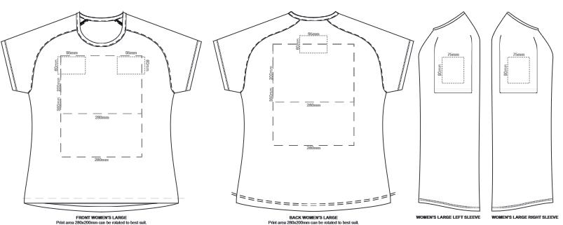 SOLS Sporty Womens T Shirt branding template 5
