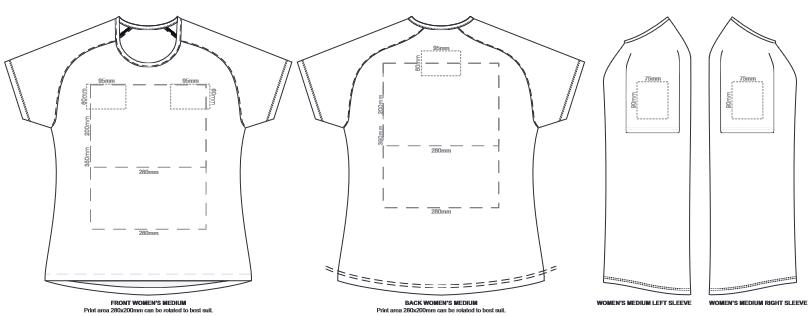 SOLS Sporty Womens T Shirt branding template 6