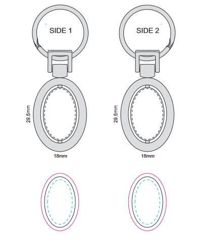 Spinning Metal Key Ring branding template