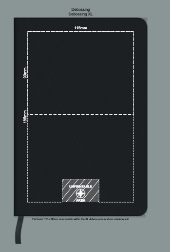 Swiss Peak Heritage A5 Notebook branding template