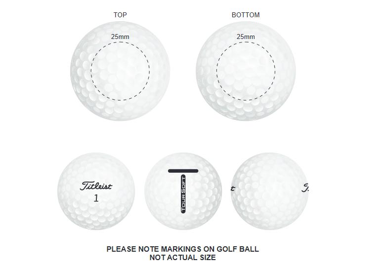 Titleist Tour Soft branding template