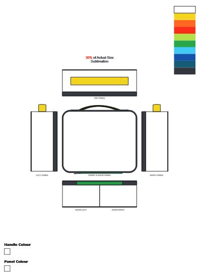Zest Lunch Cooler Bag Full Colour branding template