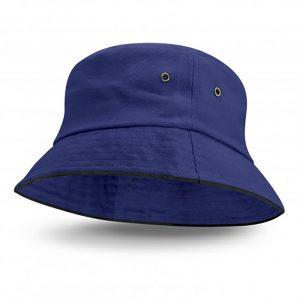 Bondi Bucket Hat Black Sandwich Trim royal blue