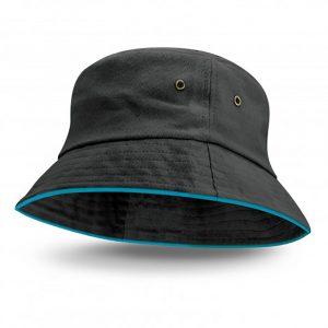 Bondi Bucket Hat Coloured Sandwich Trim light blue