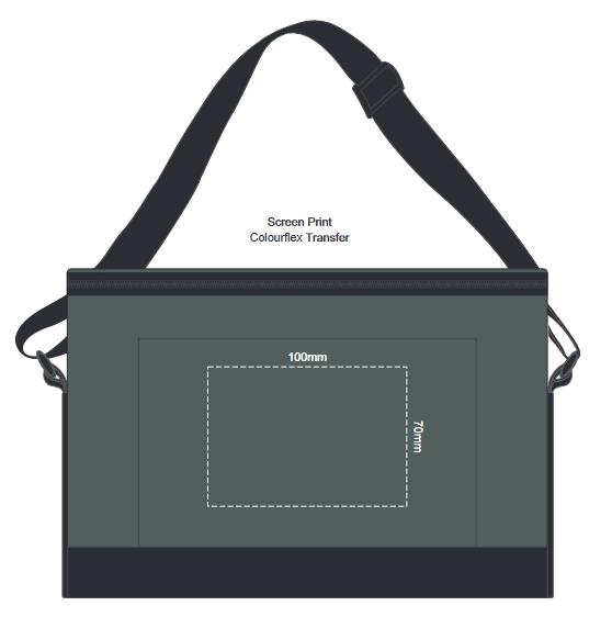 Cascade Cooler Bag branding template