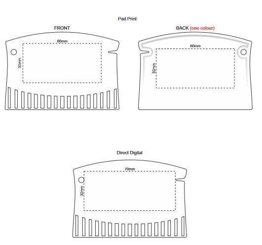Compact Ice Scraper branding template