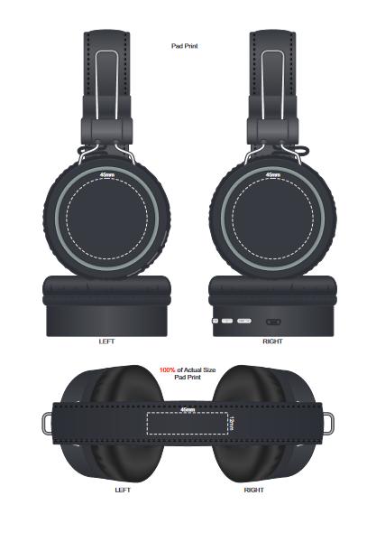 Cyberdyne Bluetooth Headphones branding template 1
