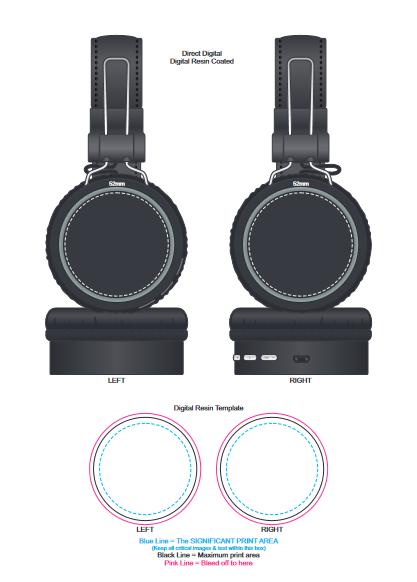 Cyberdyne Bluetooth Headphones branding template 2