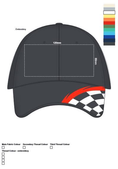 Formula Cap branding template