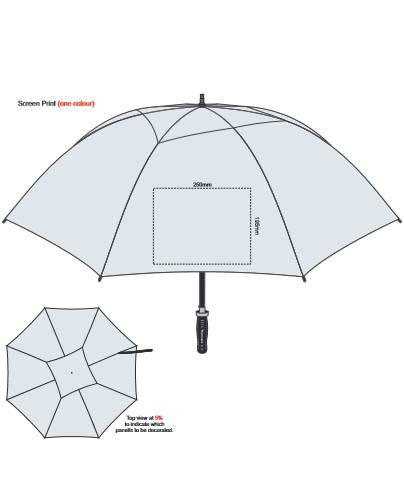PEROS Hurricane Sport Umbrella Silver branding template