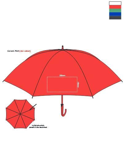 PEROS Manhattan Umbrella branding template
