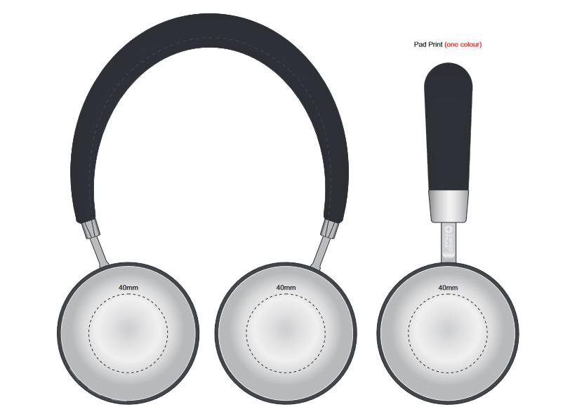 Swiss Peak Headphones branding template 1