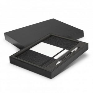 Alexis Notebook and Pen Gift Set black