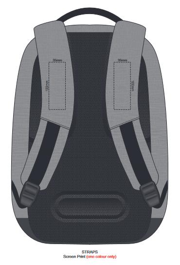 Bobby Anti Theft Backpack Branding Template 2