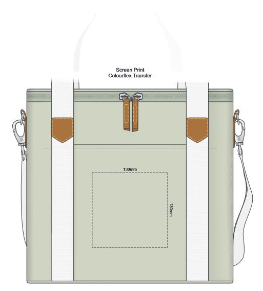 Canvas Cooler Bag branding template 1