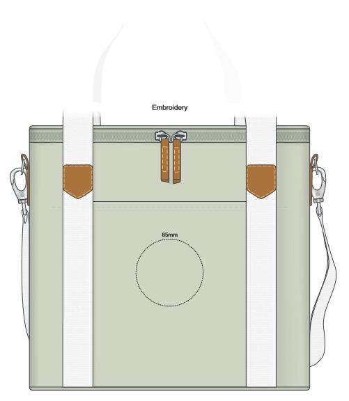Canvas Cooler Bag branding template 2