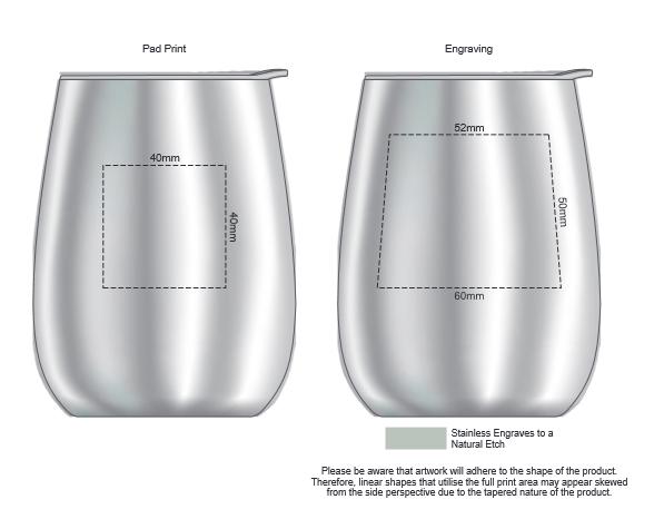 Cordia Vacuum Tumbler branding template 1