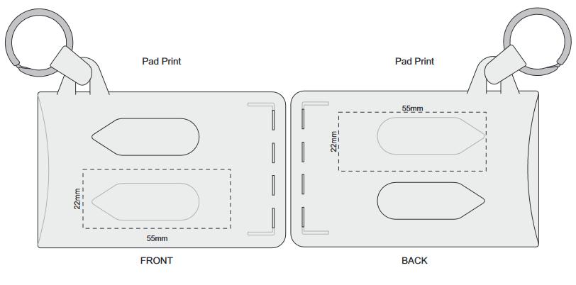 Double Card Holder branding template 1