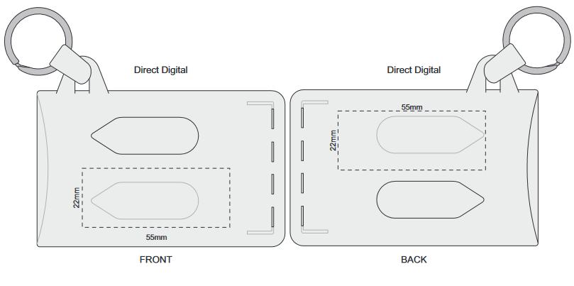 Double Card Holder branding template 2