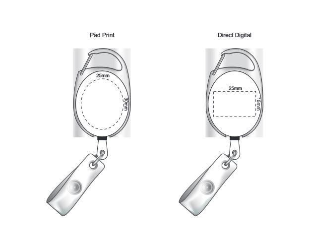 Evo Retractable ID Holder branding template