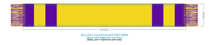 Fairbanks Custom Knitted Scarf branding template