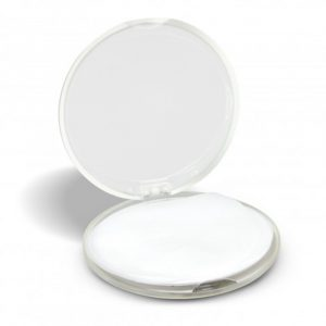 Hand Soap Travel Case Round clear open
