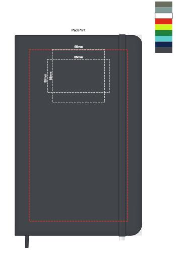 Moleskine® Hard Cover Notebook Large branding template 1