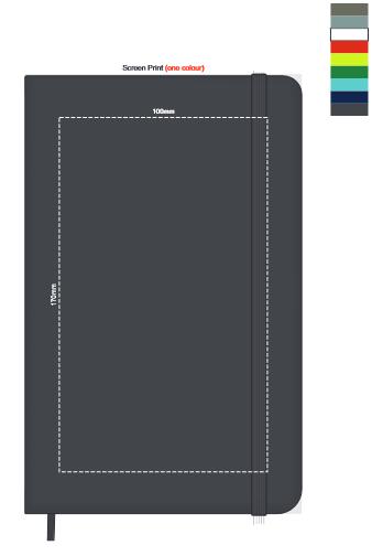 Moleskine® Hard Cover Notebook Large branding template 2