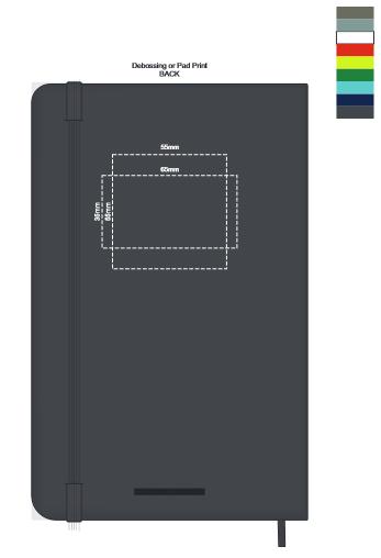 Moleskine® Hard Cover Notebook Large branding template 3
