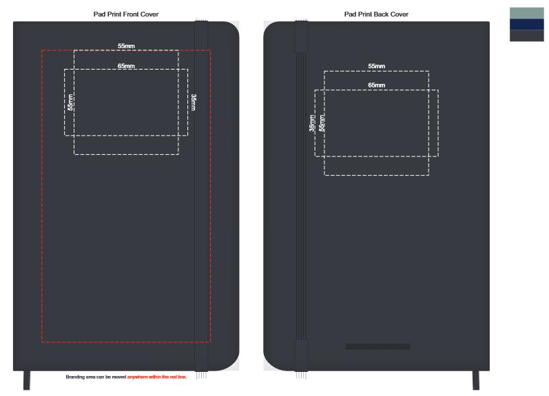 Moleskine Hard Cover Notebook Medium branding template 1