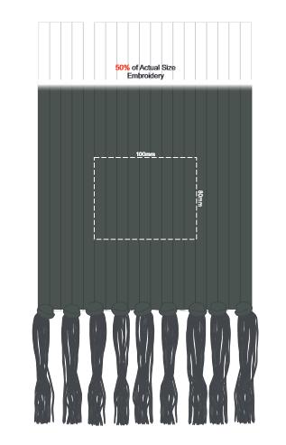 Nebraska Cable Knit Scarf branding template